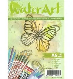 Waterart aquarelpapier Papier 40 sheets / A6 / 185 grs