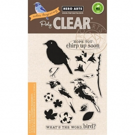 "Hero Arts Clear Stamps 4""X6"" Color Layering Bird & Branch"