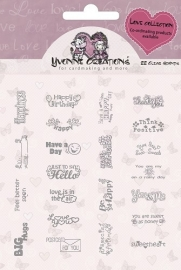Stamps - Yvonne Creations - Love Collection - Text
