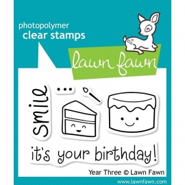 "Lawn Fawn Clear Stamps 3""X2"" Year Three"