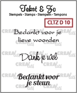 Crealies Clearstamp Tekst&Zo Divers 10