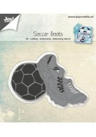 3D- Snij-embos-debosstencil - Voetbal-schoenen