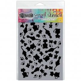 "Dyan Reaveley's Dylusions Stencils 5""X8"" It's Raining Cats"