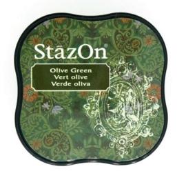 Stazon inktkussen Midi Olive Green