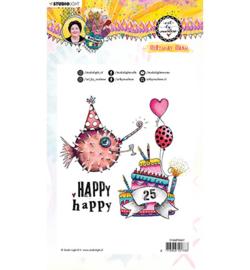 STAMPBM67 - BM Clear Stamp Birthday bash Marlene's World nr.67
