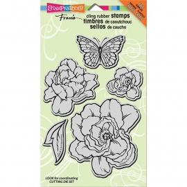 "Stampendous Fran's Cling Stamps 5""X7"" Lovely Garden"