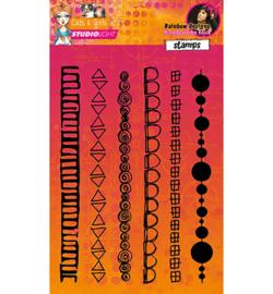 Mixed Media Rainbow Designs nr.06
