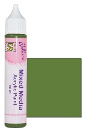 Nellies Choice Mixed media verf satijn olijfgroen 28ml MMAP007