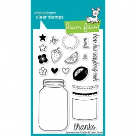 """Lawn Fawn Clear Stamps 4""""X6"""" Summertime Charm"""