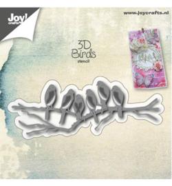 3D Stencil - Vogels op tak - Joy Crafts
