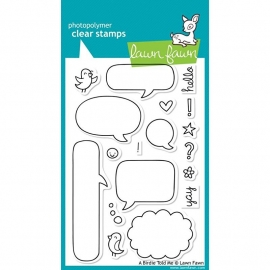 """Lawn Fawn Clear Stamps 4""""X6"""" A Birdie Told Me"""