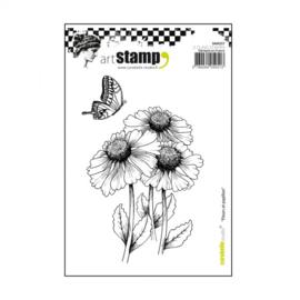 Carabelle stamp A6 fleurs et papillon