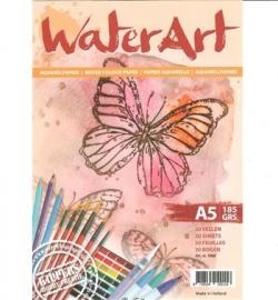 WaterArt aquarelpapier Papier 30 sheets / A5 / 185 grs
