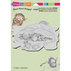Snow Cap Nap House Mouse - Stampendous