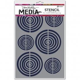 "Dina Wakley Media Stencils 9""X6"" Bullseye"
