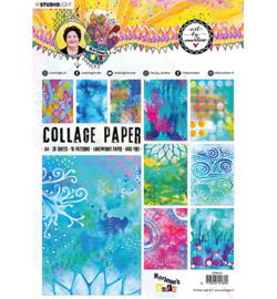 BM Collage Paper Pattern Paper Marlene's World 210x297mm nr.10