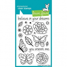 "Lawn Fawn Clear Stamps 4""X6"" Flutter By"