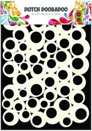 Dutch Doobadoo Dutch Mask Art stencil bubbles 2 A5