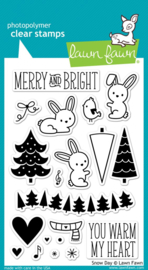 Lawn Fawn Snow Day clear stempel