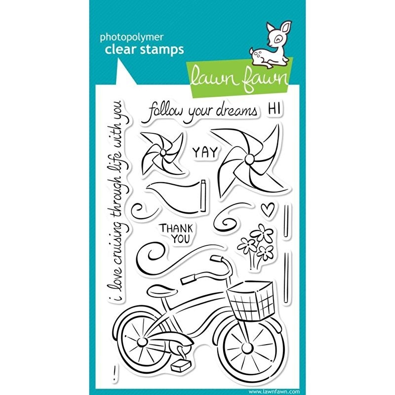 """Lawn Fawn Clear Stamps 4""""X6"""" Cruising Through Life"""