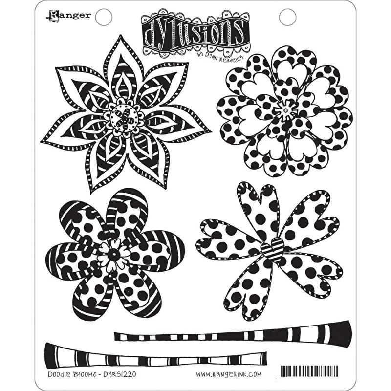 """Dyan Reaveley's Dylusions Cling Stamp Collections 8.5""""X7"""" Doodle Blooms"""