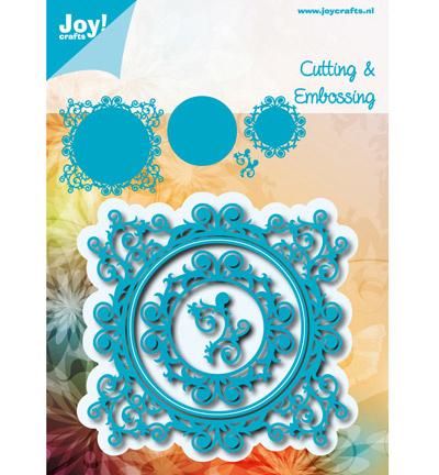 Joy Crafts - Cutting en Embossing stencil stencil blauwe mal swirls