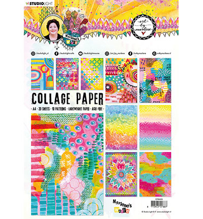 BM Collage Paper Pattern Paper Marlene's World nr.9