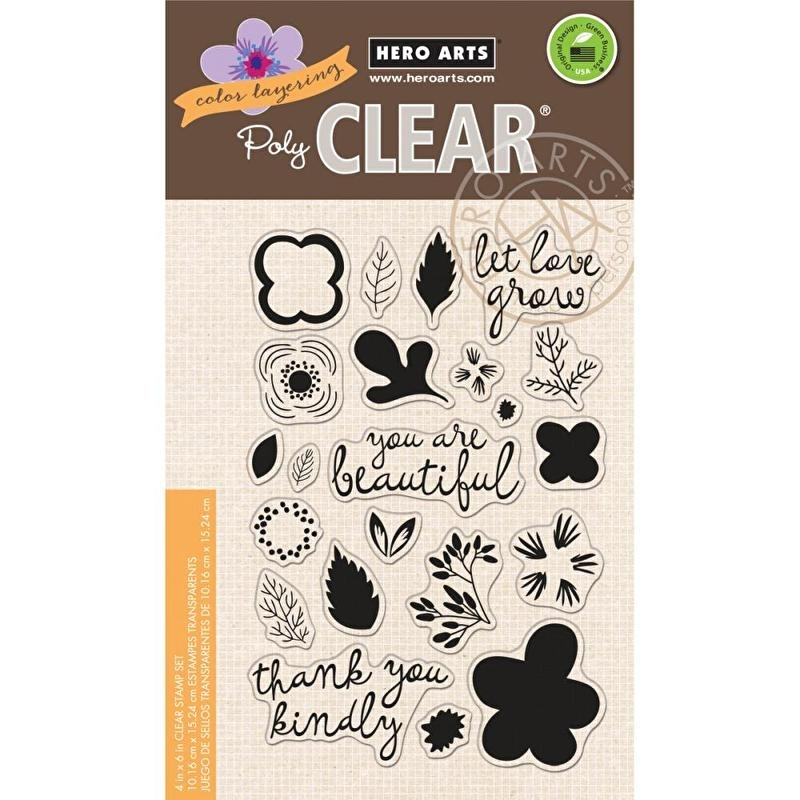 """Hero Arts Clear Stamps 4""""X6"""" Let Love Grow"""