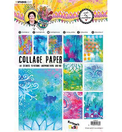 BM Collage Paper Pattern Paper Marlene's World 210x297mm nr.10