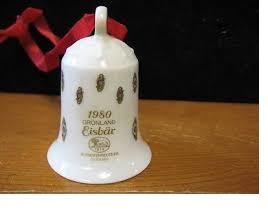 1980 Kerstklokje porselein merk Hutschenreuther ZONDER DOOSJE !