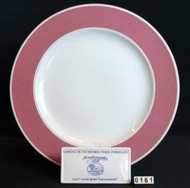 model Grootbord rand rose Ø 32 cm