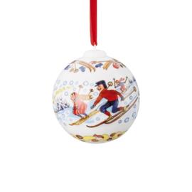 2018 Kerstbal porselein Hutschenreuther (  vanaf 1986 )