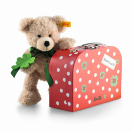 114007 Fijn Teddybeer in/met Koffer 24 cm