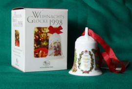 1998 Kerstklokje Hutschenreuther  porselein