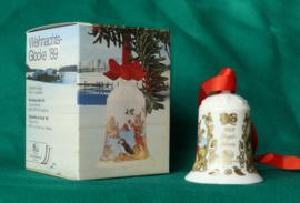 1989 Kerstklokje Hutschenreuther porselein