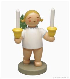 650/157 Engel met 2 kaarsen- nieuw 2018