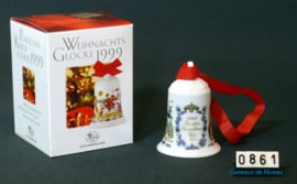 1999 Kerstklokje porselein, Hutschenreuther