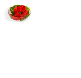 GB 017 Italiaanse Organische schaal Klaproos mini- handbeschilderd