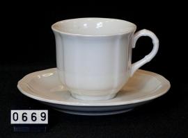 """model Manoir """" Koffie Kop & Schotel """"  0,20 liter"""