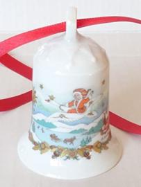 1986 Kerstklokje porselein merk Hutschenreuther ZONDER DOOS !
