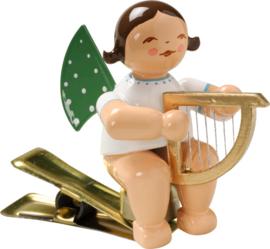 650/90/14 Engel met harpje ( met klem )