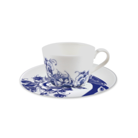 Royal Delft -model Peacock Koffie Kop en schotel 180 ml