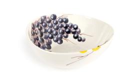 EW42-20 organische schaal met witte en blauwe druiven 20cm
