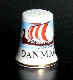 Vingerhoedje Danmark porselein