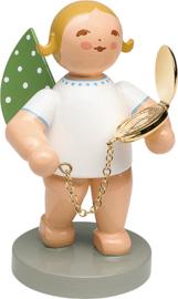 650/125 Engel met gouden horloge 6 cm