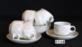 modelTavola Leonard decor Kyoto 6 koffie kop en schotels