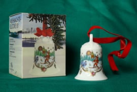 1981 Kerstklokje porselein merk Hutschenreuther
