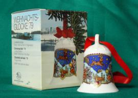 1979 Kerstklokje Hutschenreuther  porselein