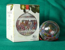 1992 Kerstbal kristal Hutschenreuther