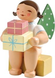 650/k/151a Engel, klein/ met geschenken 4 cm